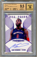 2013-14 Panini Preferred Purple ANDRE DRUMMOND Auto SP 5/10 BGS 9.5/10 ! POP 1 !