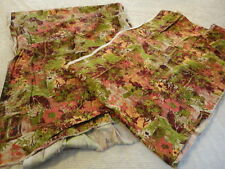 """Two Remnants of Floral Garden Upholstery Fabric (25"""" X 156"""") (21"""" X 128"""") nc2"""