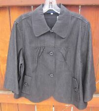 """BILL BLASS"" Jeans Women's Casual Charcoal Jacket Stretch A-Line Size X-Lg. NWT!"