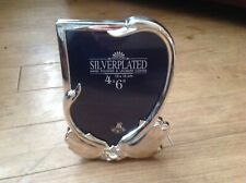 Vintage  silver plated swan design photo frame With Box