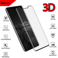 For Huawei Mate 20 Full Coverage 3D Curved Tempered Glass Screen Protector Black