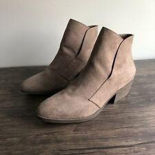 Madden Girl Womens 9 Boloo Ankle Boots Bootie Taupe Brown Tan EUC