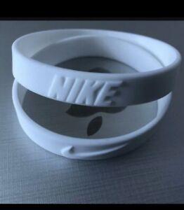 2 Pieces Nike Sport Baller Band Silicone White w/White logo