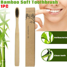 1pcs Bamboo Toothbrush Charcoal Teeth Brush Natural Whitening Remove Stain Black