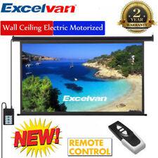 """100"""" 16 9 Home Electric Motorized 3d Projector Screen Projection Remote Control"""