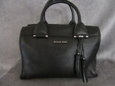aaf107296aecb Michael Kors 30f6stxs3l Geneva Large Satchel Black Leather Purse Handbag