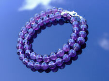 Amethyst Natural Gemstone Necklace 8mm Beaded 16-30inch Healing Stone Chakra