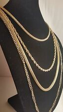Women's Necklace Layered Gold Colored Chain