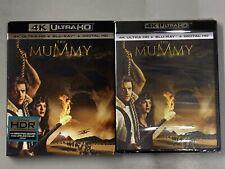 The Mummy (4K Ultra, Blu-ray, Digital) With Slipcover - Brendan Frasier - NEW