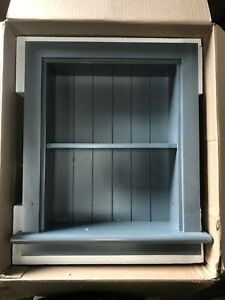 14x18 Gray Aiden Wall Niche with beadboard back by Fox Hollow Furnishings