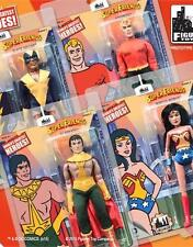 SUPER FRIENDS SERIES 2; 8 INCH ACTION FIGURES; SET OF 4 mint on sealed cards new