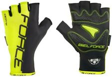 FORCE DOTS Cycling Mitts Fingerless Gloves Black/Neon Green Size XL With Tags UK