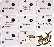 18 Note Wind Up Music Box Musical Movements w/ Keys - 8 Popular Tunes Set 2