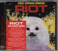 RIOT 'FIRE DOWN UNDER' + 6 BONUS TRACKS ROCK CANDY 2018 REMASTER NEW SEALED!