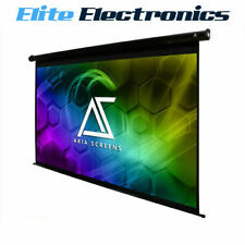 "AKIA SCREENS 110"" 16:9 4K Ultra HD 3D ELECTRIC MOTORIZED PROJECTOR SCREEN REMOTE"