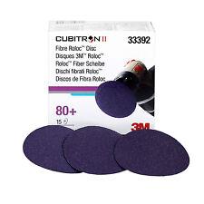 "3M 33392 Cubitron II 3"" 80 Grit Roloc Discs, 15 Discs Per Box"