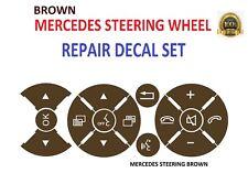 Brown Replacement Steering Wheel Button Sticker Mercedes C Class E Class G Class