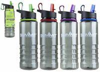 Summit 700Ml BPA Free Water Bottle Folding Straw & Carabiner - 1 Unit Red Bottle