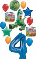 The Good Dinosaur Party Supplies 4th Birthday Arlo and Spot Balloon Bouquet D...
