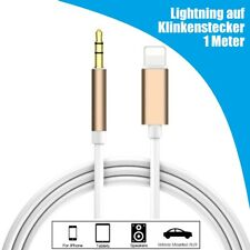 Lightning Aux Adapter Kabel 3,5mm Klinke Stecker f. original iPhone 8 X XS XR 11