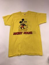 VTG Disneyland Yellow T Shirt Walt Disney Mickey Mouse Size Medium dbl side Rare