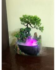 Creative Indoor Simulation Resin Rockery Fake Tree Feng Shui Fountain Waterfall