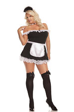 Plus Size French Maid 4pc Costume 9395x Lingerie