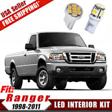 10x White LED Bulb Interior Dome Map Light Package Kit For 1998-2011 Ford Ranger