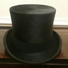 Very Rare and Splendid Dunn & Co Vintage Silk Black Top Hat Size UK 7 3/8 60cm