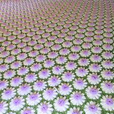 White Purple Green Vintage CROCHET DAISY AFGHAN THROW Full Size 84 X 59