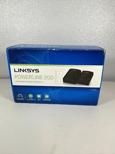 LINKSYS PLSK400-NP Powerline Adapter, 4 Port, 200 Mbps, Excellent Used Condition