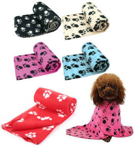 Pet Cat Kitten Dog Puppy Winter Blanket Warm Fleece Paw Beds Mat Cover M L XL