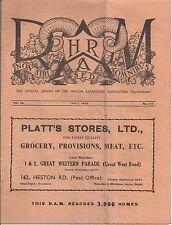 Heston Ratepayers Association Magazine R A M July 1950 west London Middlesex
