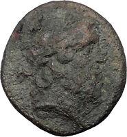 Abbaitis in PHRYGIA 150BC Authentic Ancient Greek Coin Zeus Thunderbolt i31505