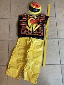 Pac-Man 1980 Old Vintage Ben Cooper Halloween Costume W/box Pacman Pac Man