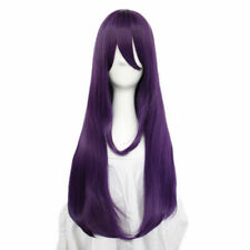 For Cosplay Doki Doki Literature Club Yuri Wig Women Purple Long Synthetic Hair