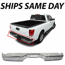 NEW Chrome Steel Rear Bumper Face Bar for 2004-2014 Nissan Titan Pickup W/ Park