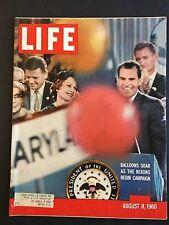 Life Magazine August 8 1960 Richard Nixon Campaigning