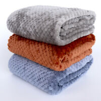 Warm Fleece Pet Blanket Throw for Cats Dogs Comfortable Dog Bed Cushion Mat Pad