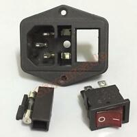 Arcade Cabinet Switched Power Socket Cnnector AC 250V Lighting with Fuse Holder