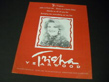 TRISHA YEARWOOD Yes Virginia...There Is A Santa Claus PROMO POSTER AD mint cond