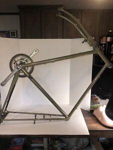 1991 Trek 520 TruTemper steel touring frame fork triple cages 52cm ST 57cm TT