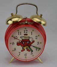 Vintage Kool-Aid Man Alarm Clock Advertising Wacky Time Machine Manual Wind