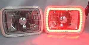 1987-1991 GMC R1500 Suburban 7X6 H6014/6052/6054 Chrome Crystal SMD Ring Halo...