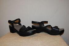 Womens DANSKO Black Leather Strappy Sandals/Shoes EUR40(US 8.5) Open-toe