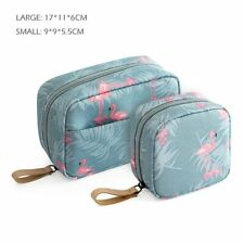 Waterproof Travel Women Flamingo Style Luggage  Makeup Two Size Smell Proof Bag