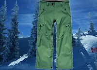 686 Mens XL 38-40 Olive Cargo Shell Snowboard Ski Snow Pants Waterproof Nwt $235
