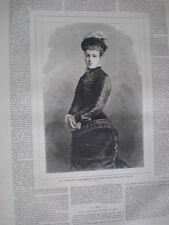 Archduchess Maria Christina of Austria future Queen of Spain 1879 old print