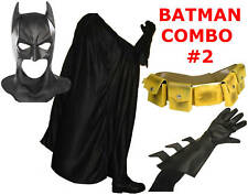 BATMAN The Dark Knight Rises costume mask, cape, gloves, yellow utility belt TDK