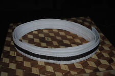 Karate Belt White w Brown Stripe Korean Karate Tang Soo Do Tae Kwon Do 81""